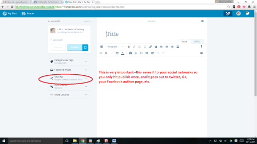 WordPress new format screenshot sharing