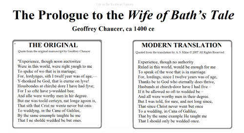 chaucer modern translate wife of bath meme