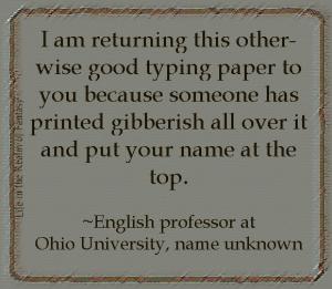 gibberish quote