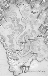 Map of Eynier Valley for 'Huw the Bard, ' ©cjjasp 2014