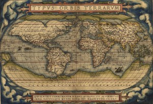 The world Ortelius' Typus Orbis Terrarum, first published 1564