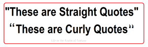 straight and curly quotes