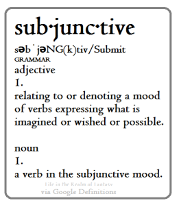 Subjunctive definition