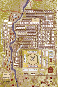 Map of Aeoven Centaur font full color harvest colors