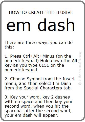 Em Dash Meme Life In The Realm Of Fantasy