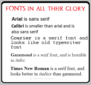 Fonts in all their glory