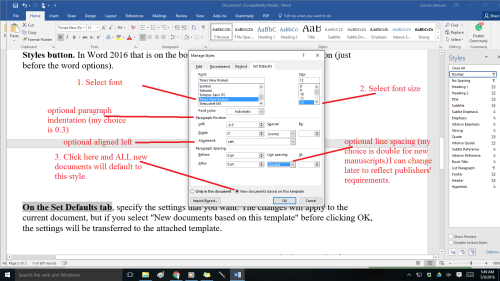 Word 2016 font change steps 2