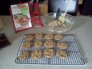 chocolate chip cookies, vegan