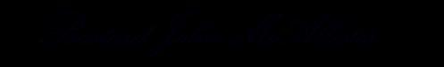 Bastard John's signature, transparency, kunstler script copy