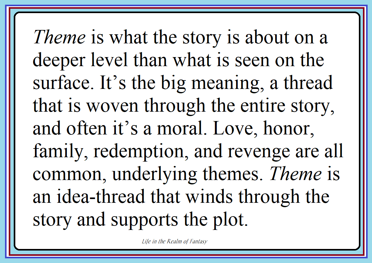 Theme and the Short Story #amwriting | Life in the Realm of