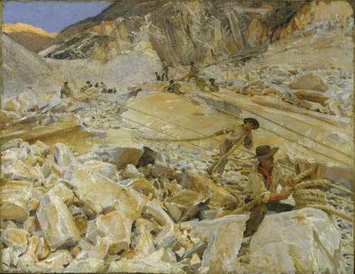 John_Singer_Sargent_-_Bringing_Down_Marble_from_the_Quarries_to_Carrara_(1911)