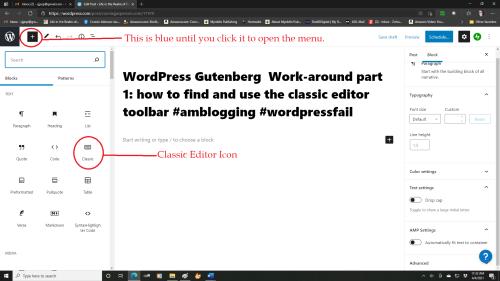 Classic Editor Icon