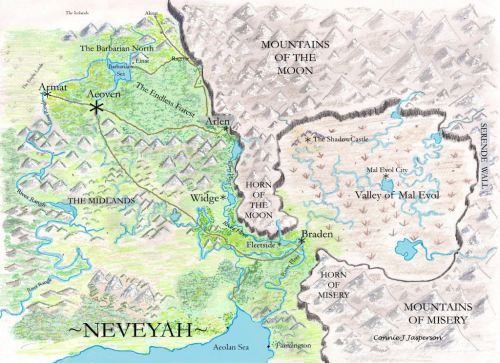 Map of Neveyah, color copy compressed